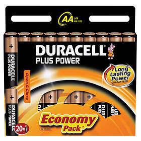 Duracell Plus Power AA-batterier (LR6) [20-pack]
