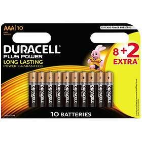 Duracell Plus Power AAA-batterier (LR03) [10-pack]