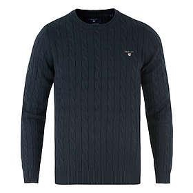 Gant Cotton Cable Crew Neck Sweater (Herr)
