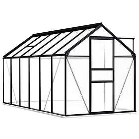 vidaXL Växthus 7,03m² (Aluminium)