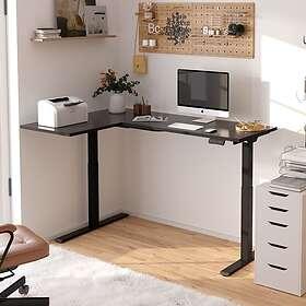 FlexiSpot L-shaped Electric Height-adjustable Computer Desk E1L