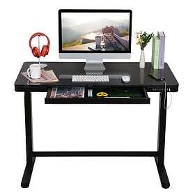 FlexiSpot Home Office Tempered Glass Worktop Standing Desk EG8