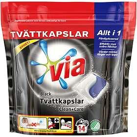 VIA Black Tvättkapslar 14-pack