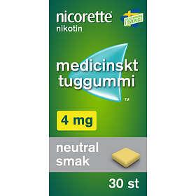 McNeil Nicorette Medisinsk Tyggegummi 4mg 30stk