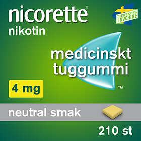McNeil Nicorette Medicinskt Tuggummi 4mg 210st