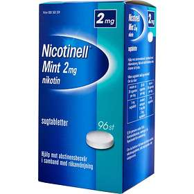 GSK GlaxoSmithKline Nicotinell Mint 2mg 96 Sugtabletter