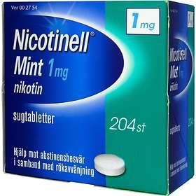 GSK GlaxoSmithKline Nicotinell Mint 1mg 204 Sugtabletter