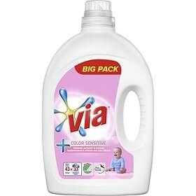 VIA Sensitive Color Flytande Tvättmedel 1,72L