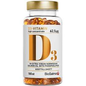 Biosalma Vitamin D3 62,5mcg 180 Kapslar