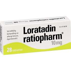 Ratiopharm Loratadin Ratiopharm 10mg 28 Tabletter