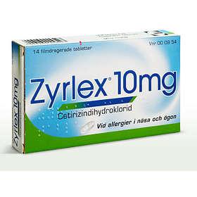 UCB Nordic Zyrlex Cetirizindihydroklorid 10mg 14 Tabletter