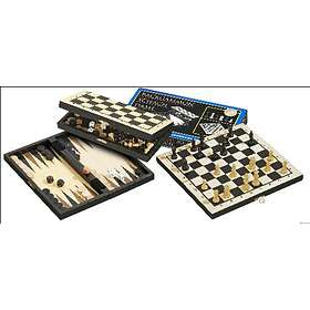 Philos Spiele Backgammon Chess Checkers Set (pocket)