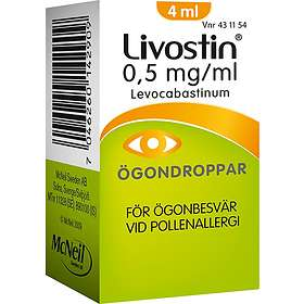 McNeil Livostin Øyedråper 0.5mg/ml 4ml