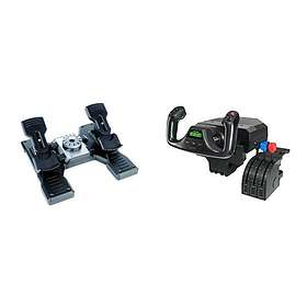 Logitech Pro Flight Yoke System + Pro Flight Rudder Pedals (PC)