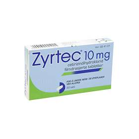 UCB Nordic Zyrtec 10mg 30 Tabletter