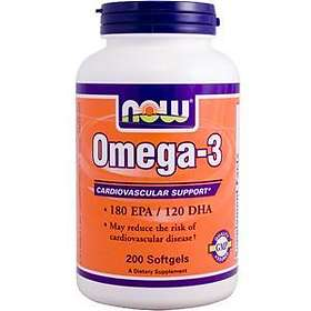 Now Foods Molecularly Distilled Omega-3 200 Kapslar