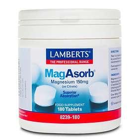 Lamberts MagAsorb Magnesium 150mg 180 Tablets