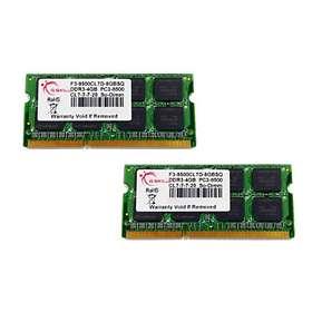 G.Skill SQ SO-DIMM DDR3 1066MHz 2x4Go (F3-8500CL7D-8GBSQ)