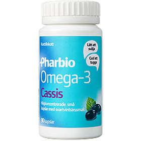 Pharbio Omega-3 Cassis 90 Kapslar