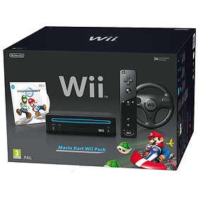 Nintendo Wii Black (inkl. Mario Kart)