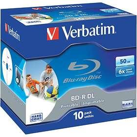Verbatim BD-R DL 50GB 6x 10-pack Jewelcase Wide Printable