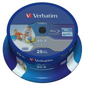 Verbatim BD-R 25GB 6x 25-pack Spindel Wide Printable