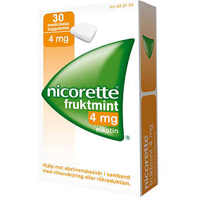 McNeil Nicorette Fruktmint Tuggummi 4mg 30st