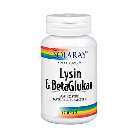 Solaray Lysin & BetaGlukan 60 Kapsler