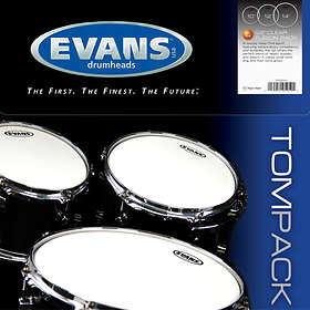 "Evans Drumheads G2 Clear Fusion Tom Pack (10-12-14"")"
