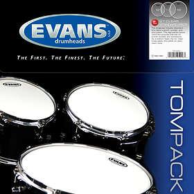 "Evans Drumheads G1 Clear Standard Tom Pack (12-13-16"")"