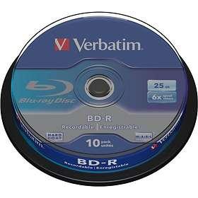 Verbatim BD-R 25GB 6x 10-pakning Spindel
