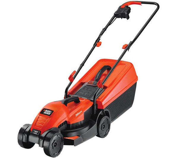 black and decker electric mower manual