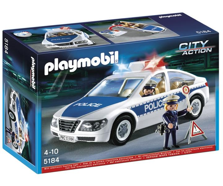 playmobil police 5184 voiture de police avec lumi res. Black Bedroom Furniture Sets. Home Design Ideas