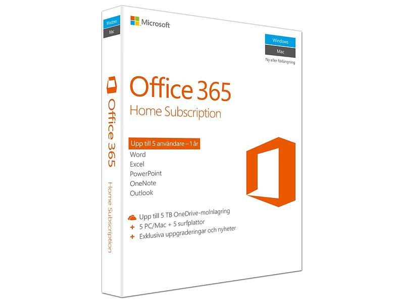 Bild på Microsoft Office 365 Home Sve från Prisjakt.nu