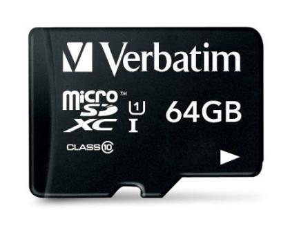 Verbatim microSDXC Class 10 UHS-I U1 64GB