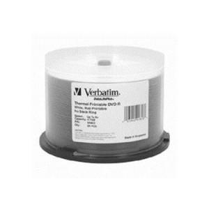 Verbatim DVD-R 4,7GB 16x 50pz Spindle Wide Silver Thermal Printable