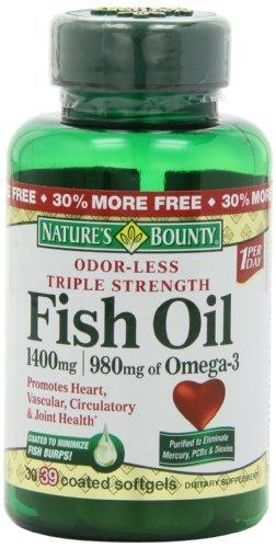 Best deals on nature 39 s bounty triple strength for Nature s bounty fish oil