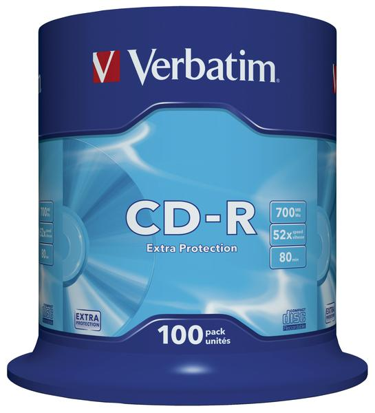 Verbatim CD-R 700MB 52x 100pz Spindle Extra Protection