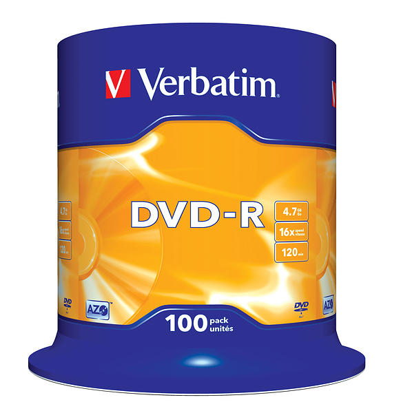 Verbatim DVD-R 4,7GB 16x 100pz Spindle