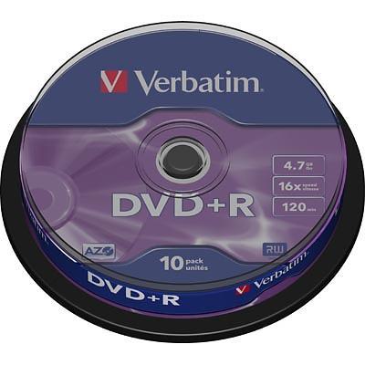 Verbatim DVD+R 4,7GB 16x 10pz Spindle