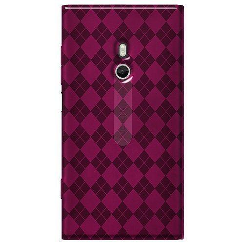 Amzer Luxe Argyle High Gloss TPU Soft Gel Skin Case for Nokia Lumia 800