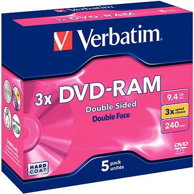 Verbatim DVD-RAM 9,4GB 3x 5pz Jewelcase