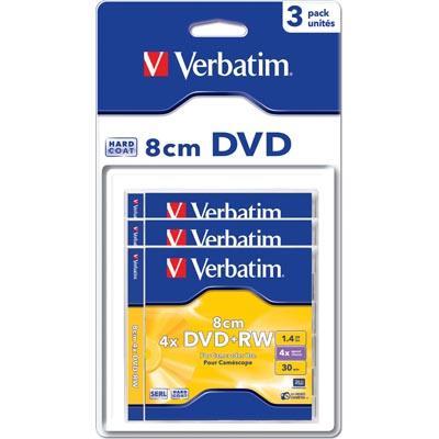 Verbatim DVD+RW 8cm 1,4GB 4x 3pz Jewelcase