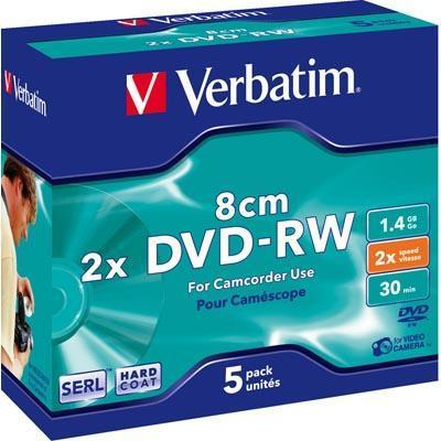 Verbatim DVD-RW 8cm 1,4GB 2x 5pz Jewelcase
