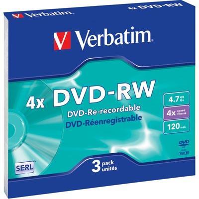 Verbatim DVD-RW 4,7GB 4x 3pz Jewelcase