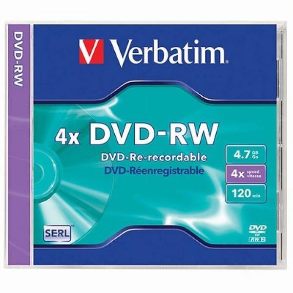 Verbatim DVD-RW 4,7GB 4x 1pz Jewelcase