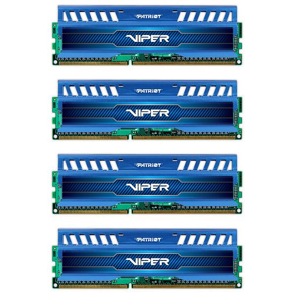 Patriot Viper 3 Sapphire Blue DDR3 1600MHz 4x8GB (PV332G160C9QKBL)