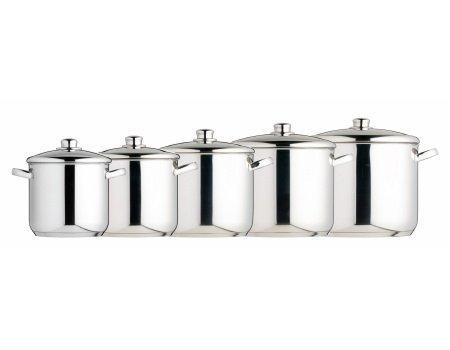 Best deals on kitchen craft master class pot set 5 pcs for Kitchen craft cookware prices