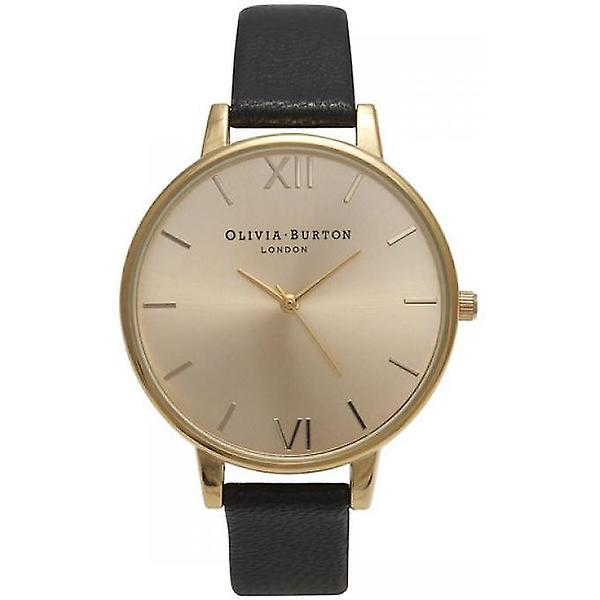Olivia Burton Big Dial Black and Gold OB13BD06