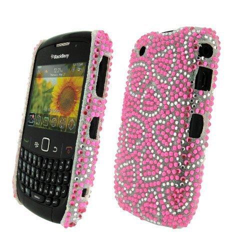 Bling It On Back Cover Diamante Mini Heart for BlackBerry Curve 8520